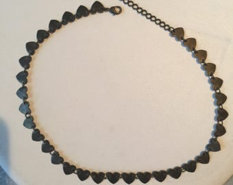Vintage Costume Heart Necklace - AB