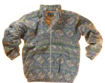 Vintage Nortons Milano by Massimo Multicolored Pattern Jacket M #S093