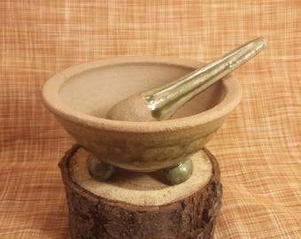 Handmade Stoneware Mortar and Pestle
