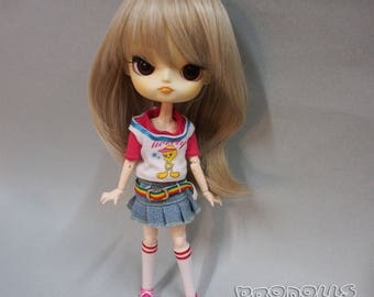 """Wig 8-9"""" for Dal, and similar size doll. Wig for BJD. Color Blond."""