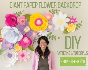 Full - Giant Paper Flower Backdrop  (Patterns and Video Tutorials)