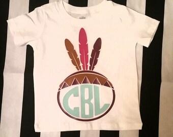 Little Indian Custom Initial Shirt