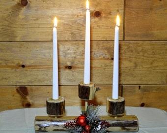 Cedar Log Holiday Candle