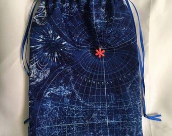 Mystic galaxy Tarot bag,pouch, drawstring bag, makeup bag