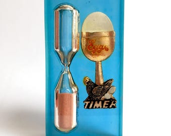 Vintage Lucite Egg Sand Timer
