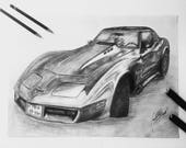 Custom Car Drawing/ Custom pencil drawing/ Drawing from photo/ Gifts for him/ Custom Car Art/ Free Shipping/ Costum Art/ Order Drawing/ Gift