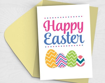 SALE 20% off - Happy Easter Eggs Card - Easter Card