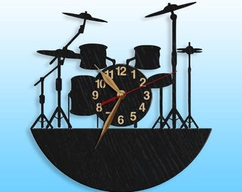 Drum clock Etsy