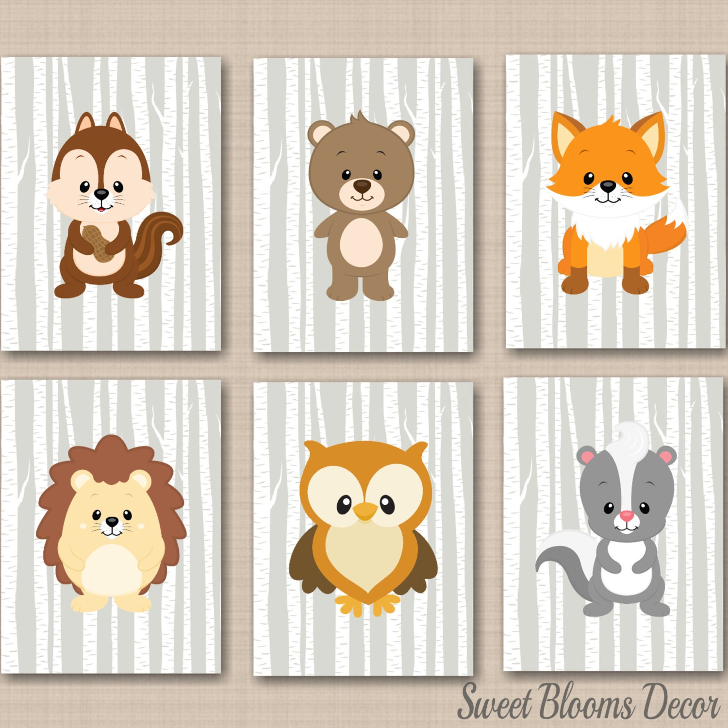 Woodland Nursery Wall Decor : Woodland nursery wall artwoodland