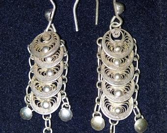 Beautiful Filigree Dangle Earrings