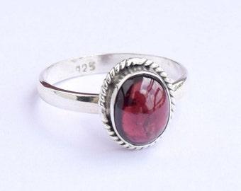 Garnet Ring, Garnet Stone Ring, Silver Ring, Solid Sterling Silver Ring, Sterling Silver Ring,size 3 4 5 6 7 8 9 10 11 12 13