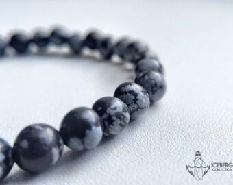 A bracelet made of Obsidian