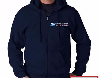 USPS Embroidered Full Zipp Sweatshirt Fast Shipping NEW! Many colors available!!