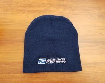 USPS Embroidered Navy Blue Beanie Winter hat FREE SHIPPING!!!