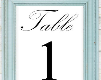 Table Numbers 1-20, 5x7, Digital Download