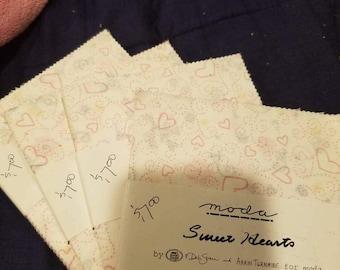 Sweet Hearts by Deb Strain charm packs