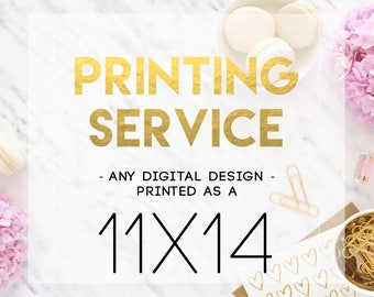 11x14 Printing Service - Print and Mail my Design!