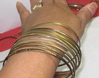 H-11 Vintage Bracelet gold tone 9 pieces size 9 inch