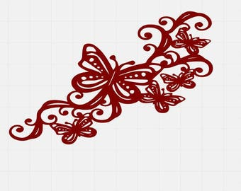 Butterfly Flourish, Butterfly Svg File, Butterfly Cut Files, , svg cutting files, svg files for cricut, svg for silhouette,