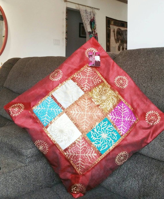 Rich red Couch Cushion Cover Pillow Covers Pillow Cases Throw Pillow Case Couch Pillow Bench Cushion Covers red pillow cover Garden Pillow