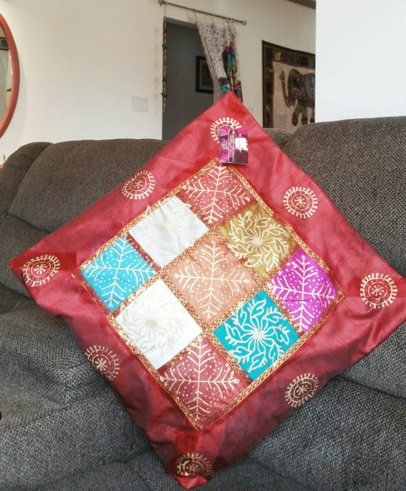 Red Couch Cushion Cover, throw Pillow Case, Couch Pillow, Bench Cushion Cover, red pillow cover, Garden Pillow, xmas gift for her