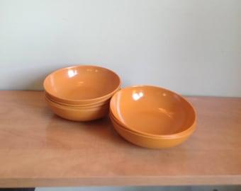 Orange Melmac, melamine dishes, bowl