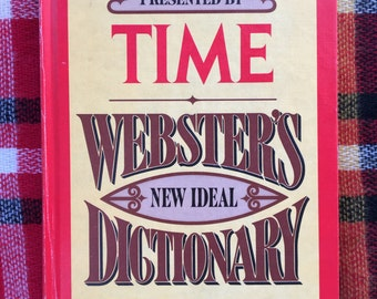 free domestic shipping--Presented by TIME Webster's New Ideal Dictionary 1978