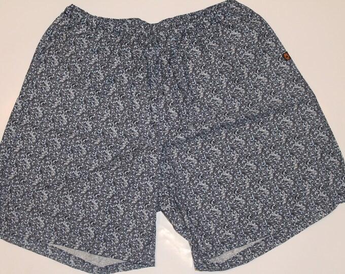 Khushi Shorts - Blue Paisley