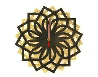 Wooden wall clock reclaimed wood clock Handmade Clock Wood Wall Clock Wooden Clock Home living Birthday gift modern clock home decor