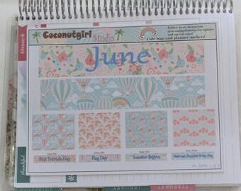 June month kit 3 sheets