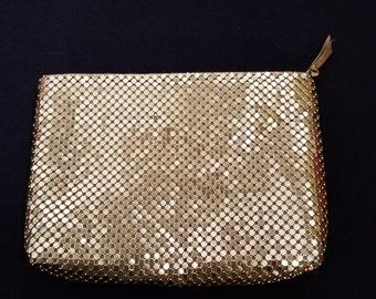 Vintage Gold Metal Mesh Purse / Evening Bag