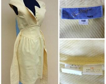 Sale Sale!!! Vintage  Thierry  Mugler  dress   //Yellow // designer vintage derss //condition  excellent