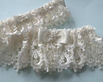 Ivory wedding garters,  Ivory wedding garter set, Wedding garters,  Garters, Bridal garters