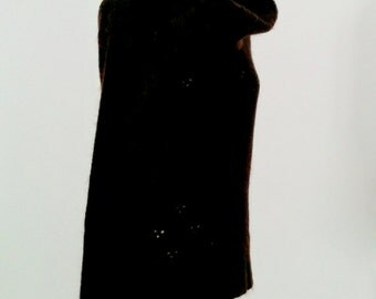 Chocolate Brown Cowl Neck jumper with Clover cut out motif