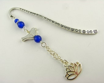 Bookmarks - spring - blue