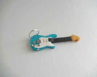 Electric Polymer Clay Guitar Charm