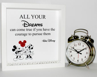 Disney quote 3d shadow box frame