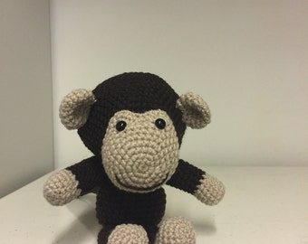 Cheeky little crochet monkey