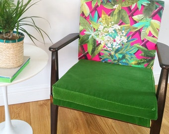 Fond Memories - Vintage Mid Century 1960's Parker Knoll Chair/ Armchair in Designers Guild Fabric