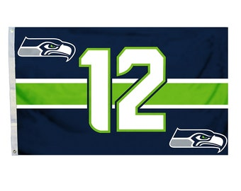 Seattle Seahawks 12th 12 Man Flag 3 x 5 Banner NFL