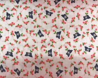 Vintage retro style fabric, bird fabric, birdie fabric, novelty fabric, retro style, vintage style