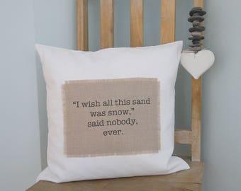 Decorative pillow | Girlfriend gift | Best friend gift | Birthday gift | Coastal decor | Beach decor | throw pillow | statement pillow