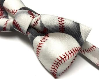 Baseball Bow tie, Baseball Bowtie, Mens Baseball Bowtie, Kids Baseball Bowtie, Sports Bow tie, Bow tie with Baseballs, Baseball