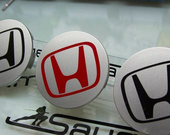 Honda H sticker or decal for center cap set of 4 any color +2 free pc 8th gen 09-11