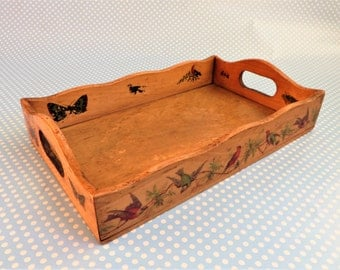 Vintage wooden toy tray from the 1930s