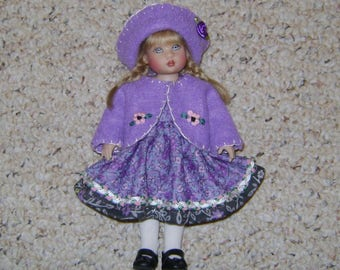 """Handmade Purple Floral DOLL OUTFIT Fits Kish RILEY, Vogue Ginny & other 8"""" Dolls!"""