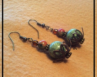 Russian Serpentine Drop Earrings