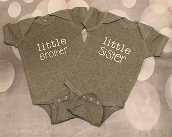 little brother, sister onesie