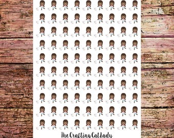Dog Walking Stickers | Dog Walker Stickers | Dog Owner Stickers | African American Girls