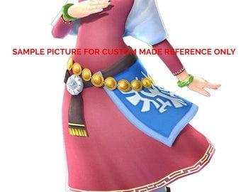 The legend of zelda skyward sword ,zelda cosplay costume, made to order